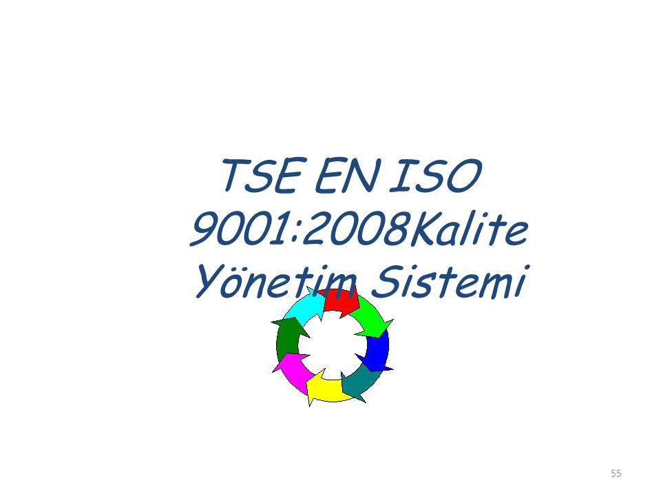 TSE EN ISO 9001:2008Kalite Yönetim Sistemi