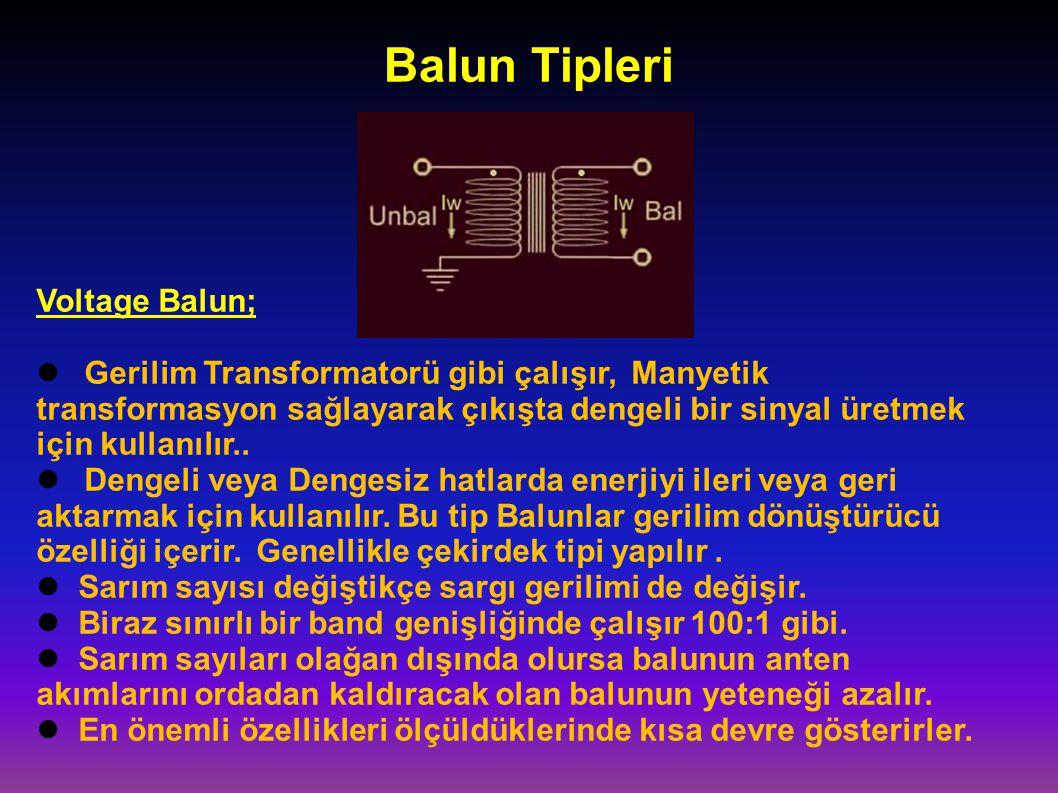 Balun Tipleri Voltage Balun;
