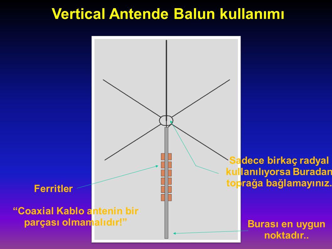 Vertical Antende Balun kullanımı