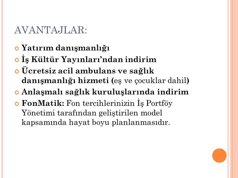 AVANTAJLAR: Yatırım danışmanlığı İş Kültür Yayınları'ndan indirim