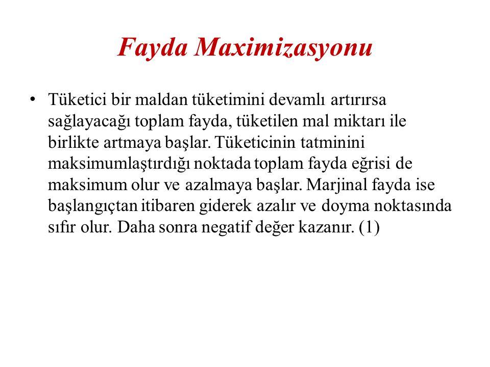 Fayda Maximizasyonu