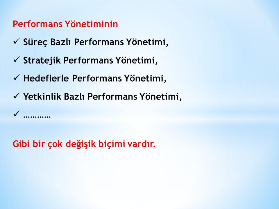 Performans Yönetiminin