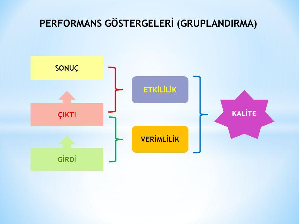 PERFORMANS GÖSTERGELERİ (GRUPLANDIRMA)