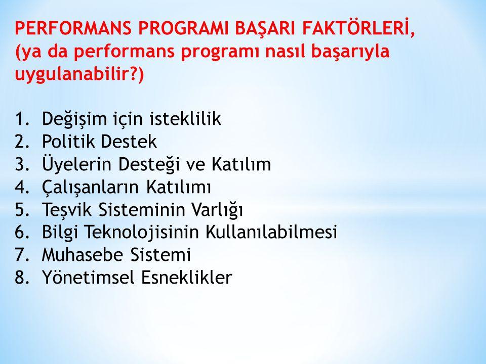 PERFORMANS PROGRAMI BAŞARI FAKTÖRLERİ,
