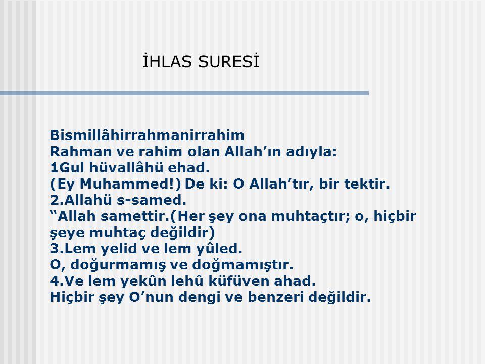 İHLAS SURESİ
