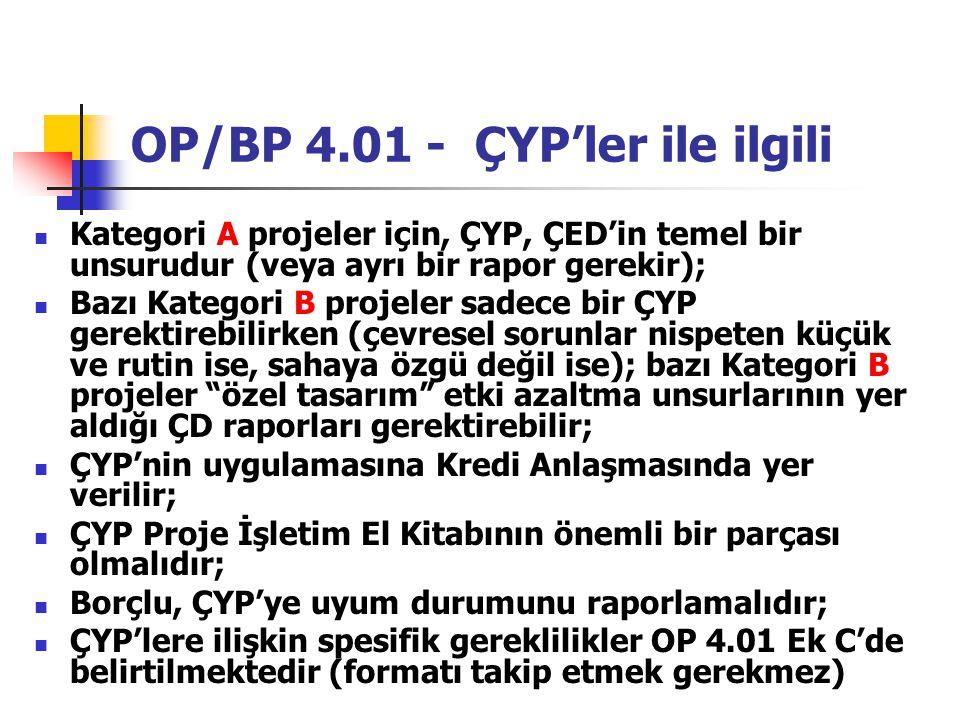 OP/BP 4.01 - ÇYP'ler ile ilgili