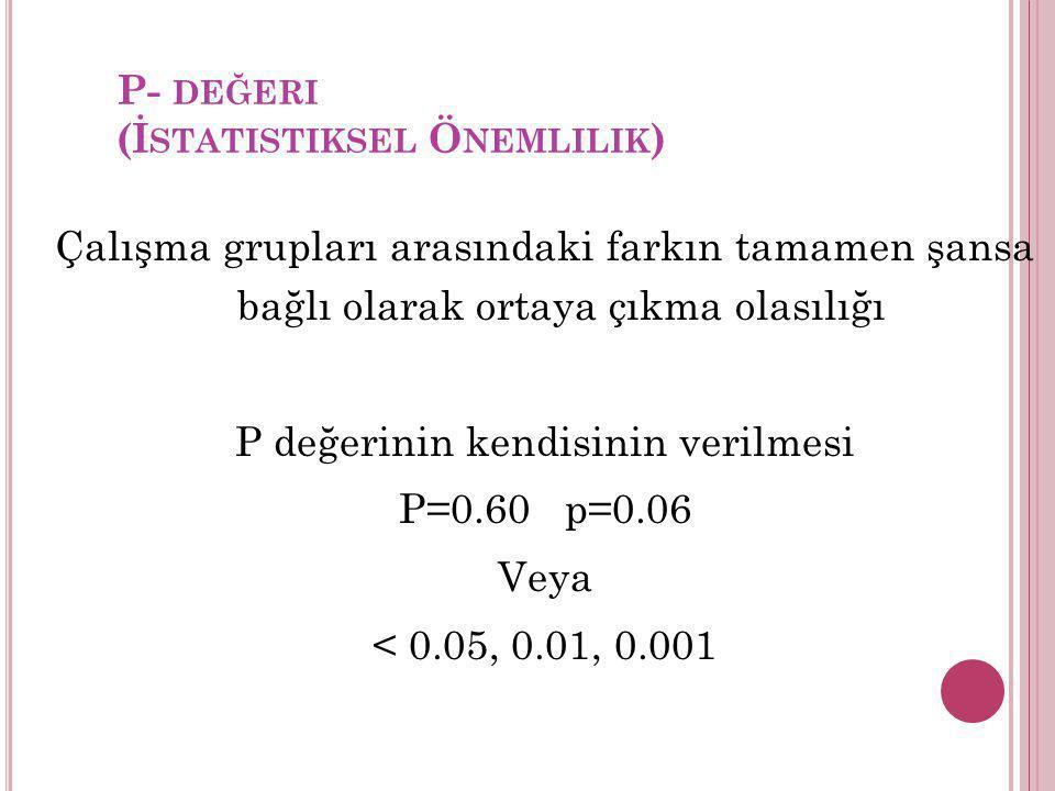 P- değeri (İstatistiksel Önemlilik)