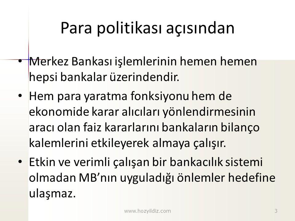 Para politikası açısından