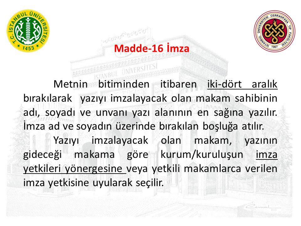 Madde-16 İmza