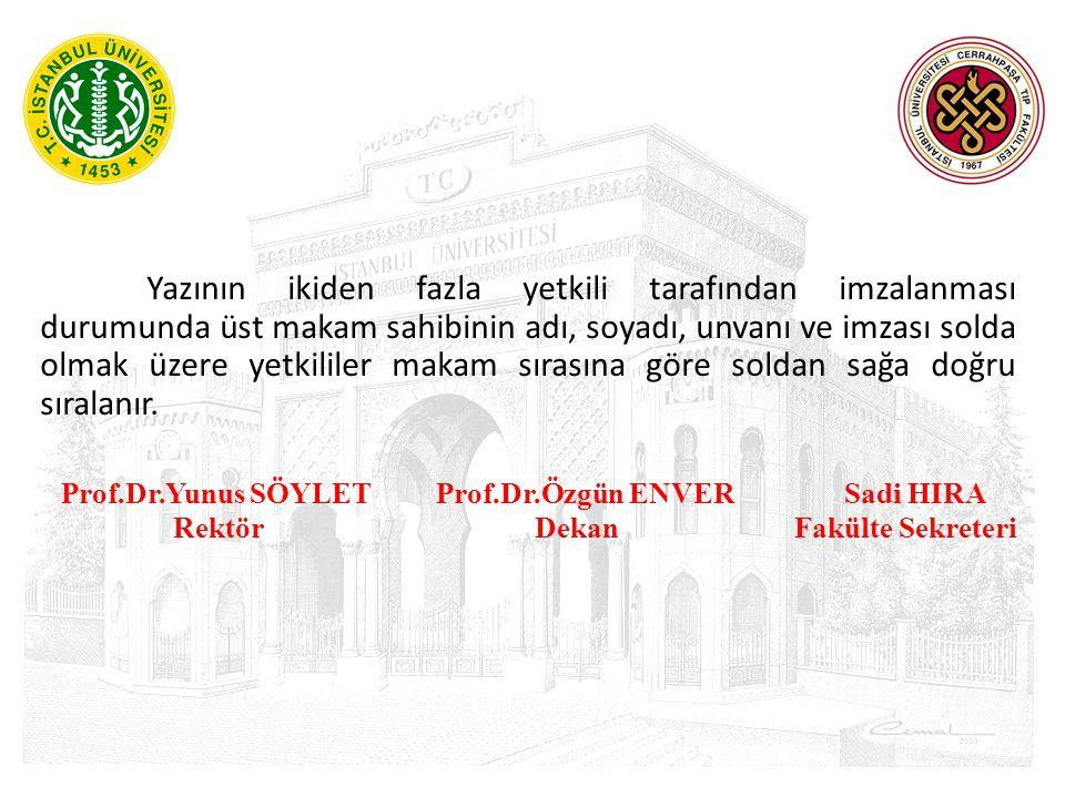 Prof.Dr.Yunus SÖYLET Prof.Dr.Özgün ENVER Sadi HIRA