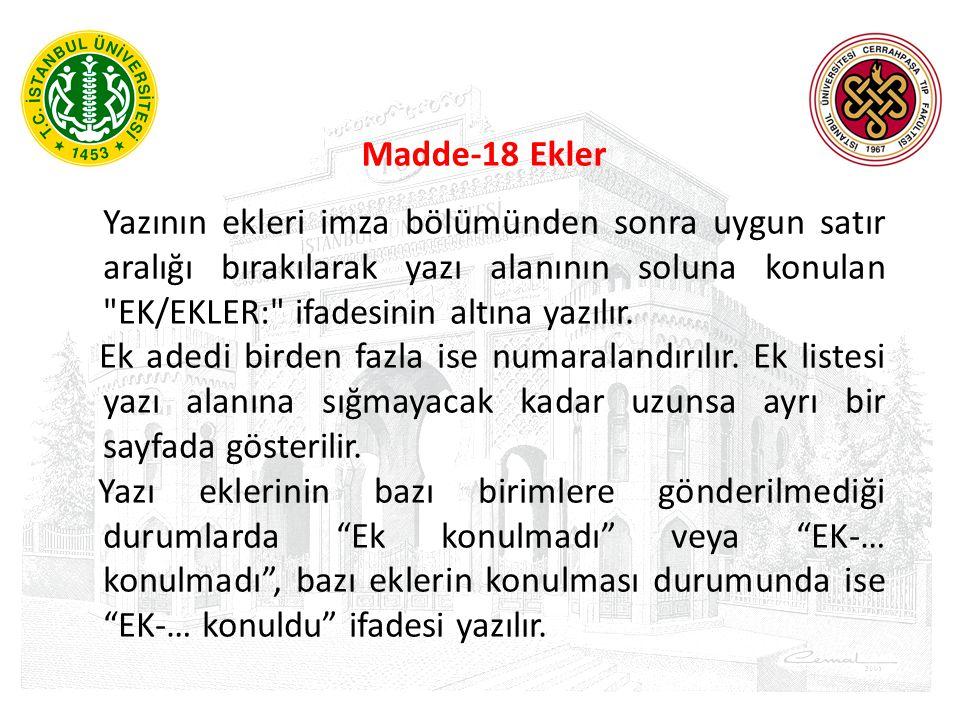 Madde-18 Ekler