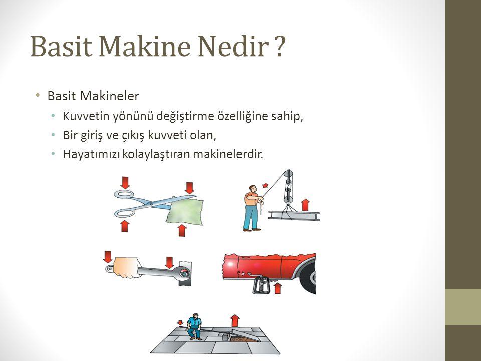 Basit Makine Nedir Basit Makineler