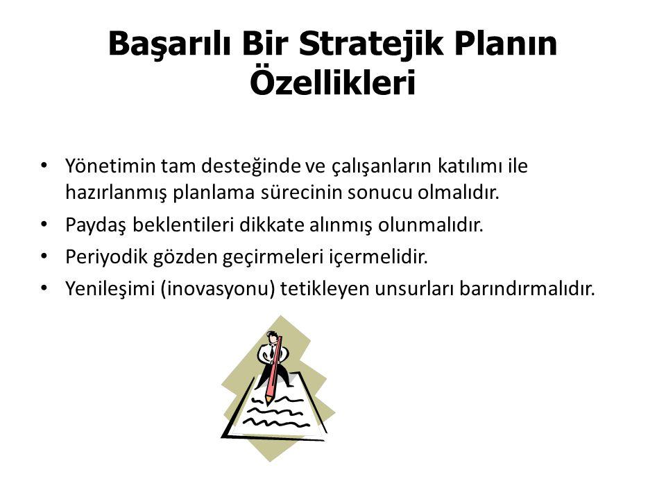 Başarılı Bir Stratejik Planın Özellikleri