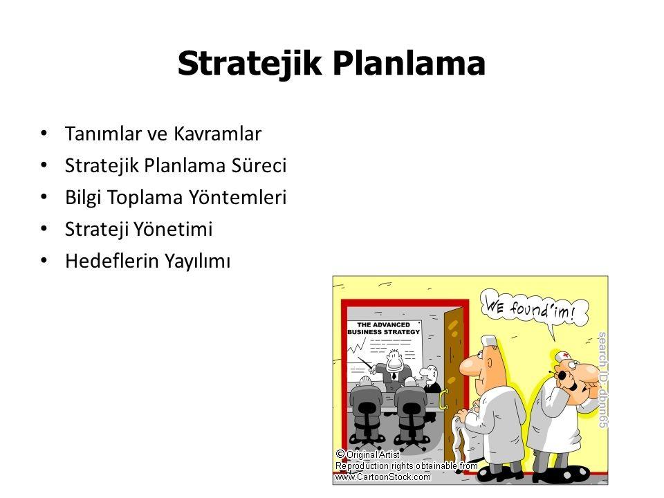 Stratejik Planlama Tanımlar ve Kavramlar Stratejik Planlama Süreci