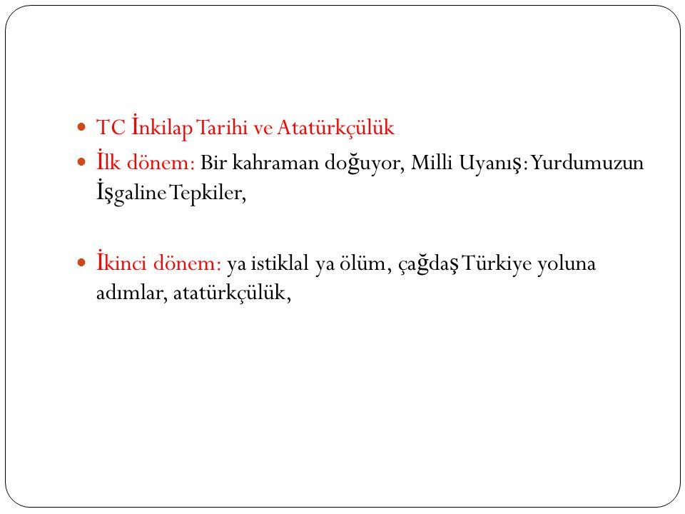 TC İnkilap Tarihi ve Atatürkçülük