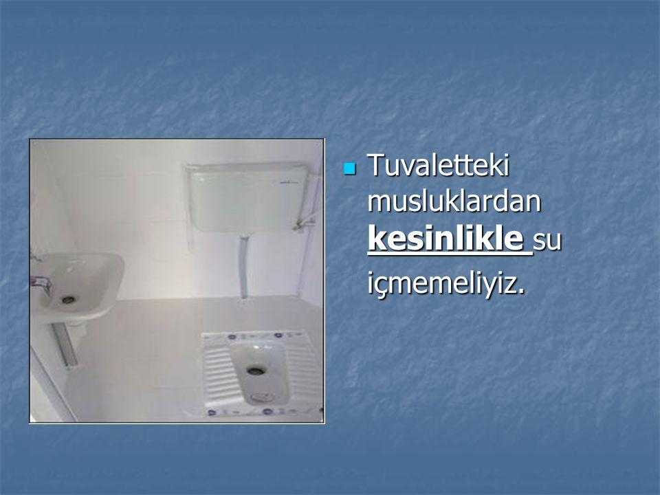 Tuvaletteki musluklardan kesinlikle su içmemeliyiz.