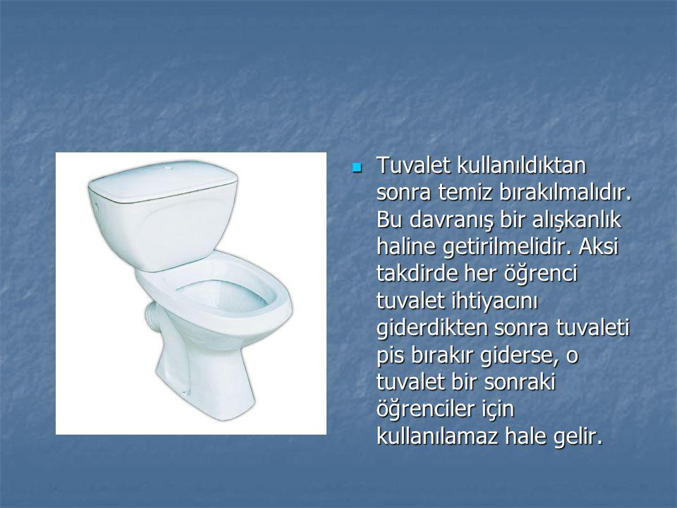 Tuvalet kullanıldıktan sonra temiz bırakılmalıdır