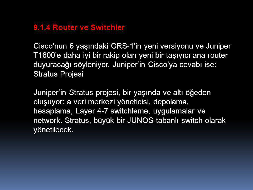 9.1.4 Router ve Switchler
