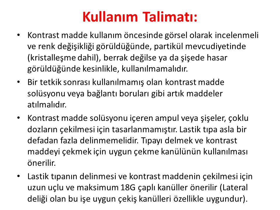 Kullanım Talimatı: