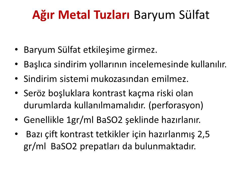 Ağır Metal Tuzları Baryum Sülfat
