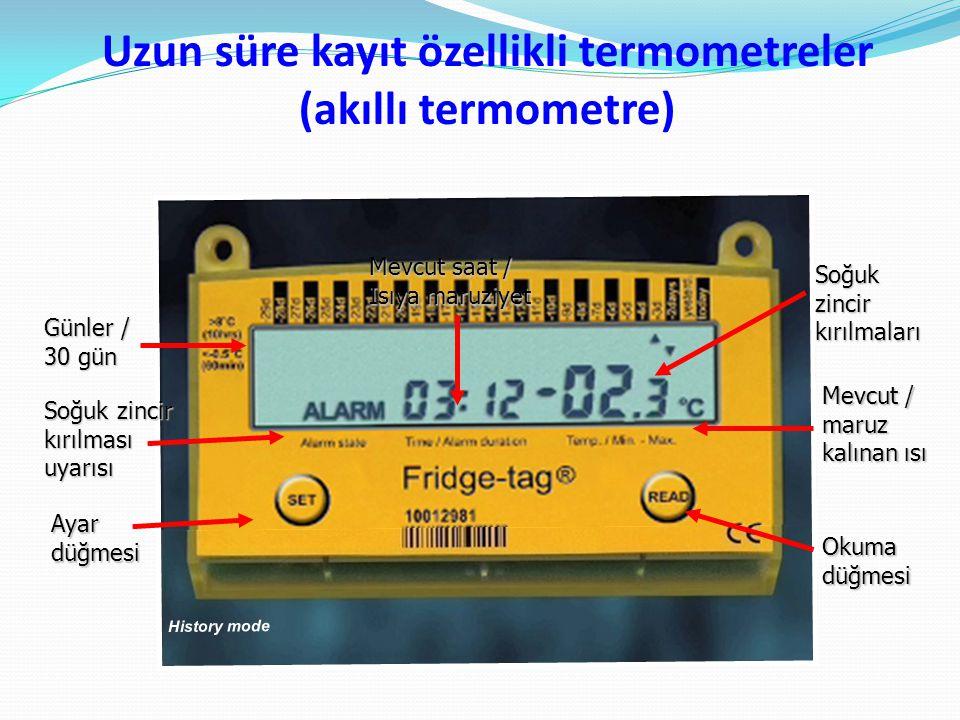 Uzun süre kayıt özellikli termometreler (akıllı termometre)