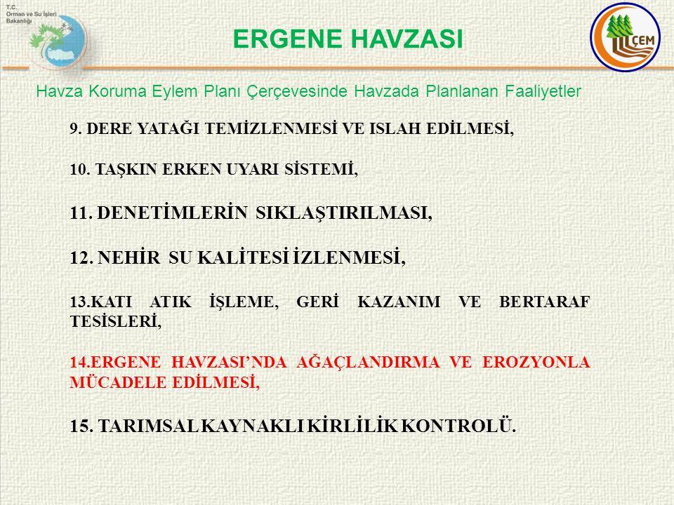 ERGENE HAVZASI 11. DENETİMLERİN SIKLAŞTIRILMASI,