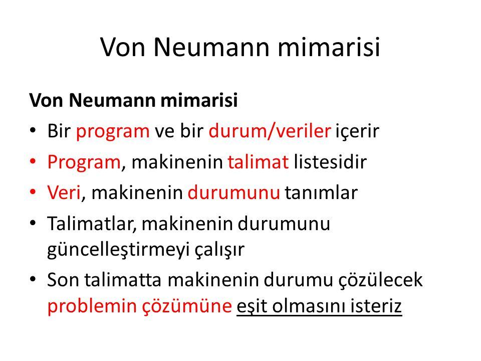 Von Neumann mimarisi Von Neumann mimarisi