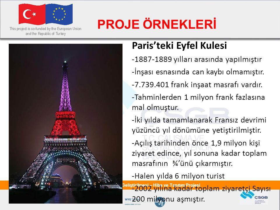PROJE ÖRNEKLERİ Paris'teki Eyfel Kulesi