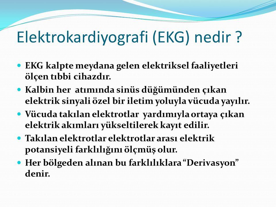 Elektrokardiyografi (EKG) nedir