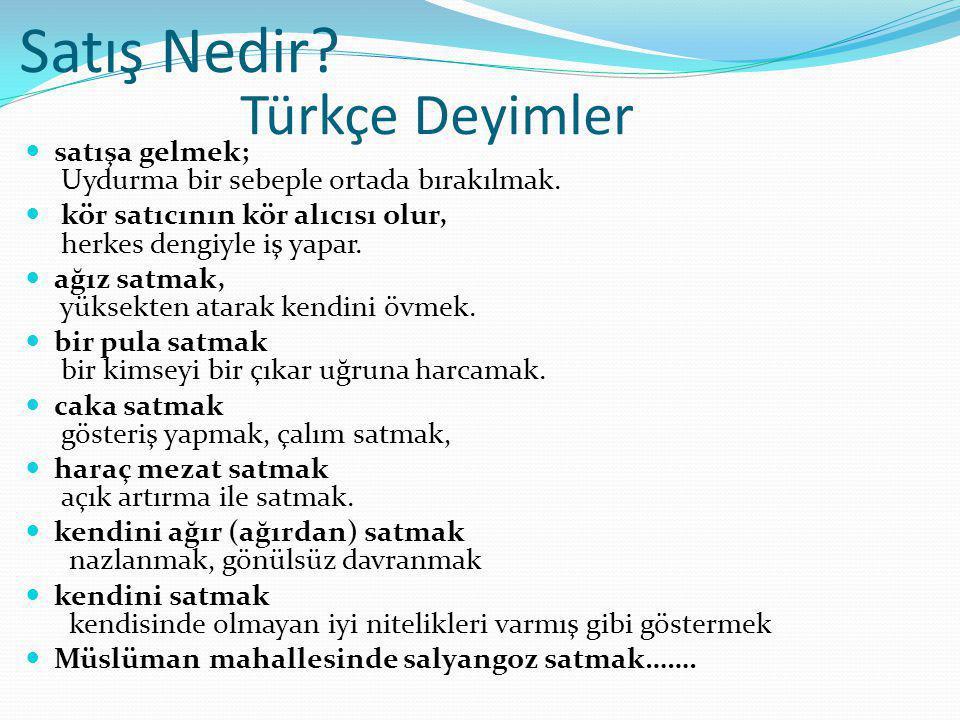 Satış Nedir Türkçe Deyimler