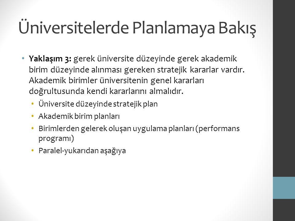 Üniversitelerde Planlamaya Bakış