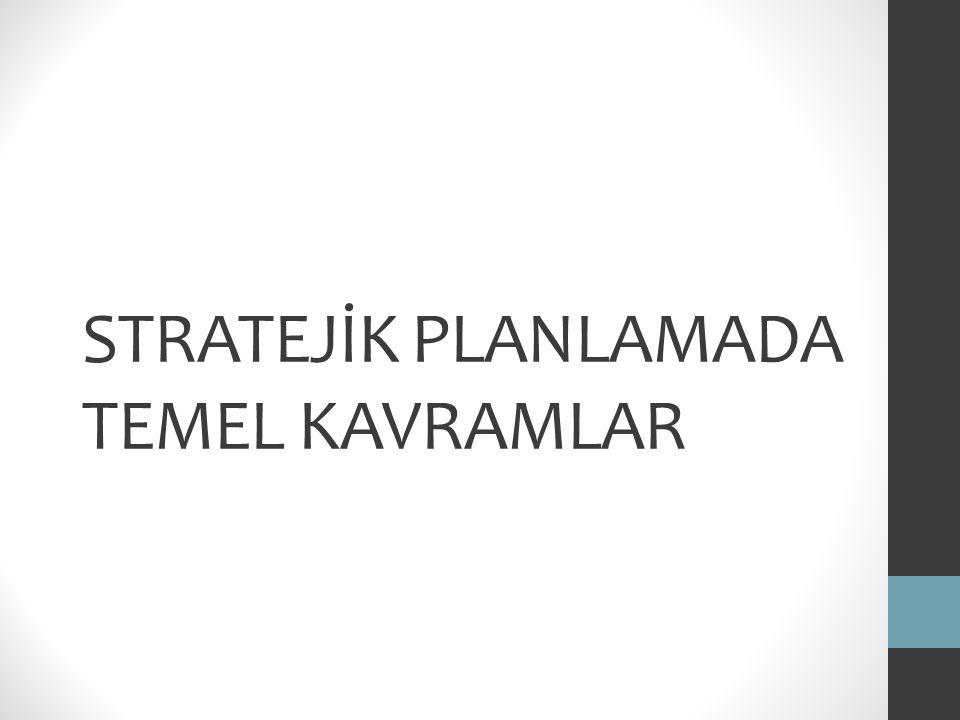 STRATEJİK PLANLAMADA TEMEL KAVRAMLAR