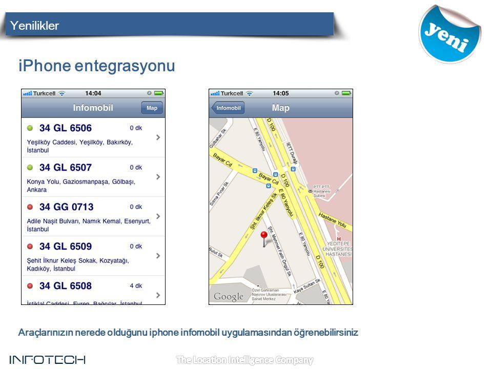 iPhone entegrasyonu Yenilikler