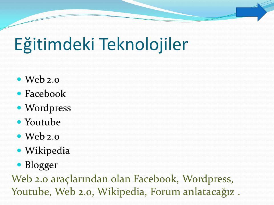 Eğitimdeki Teknolojiler