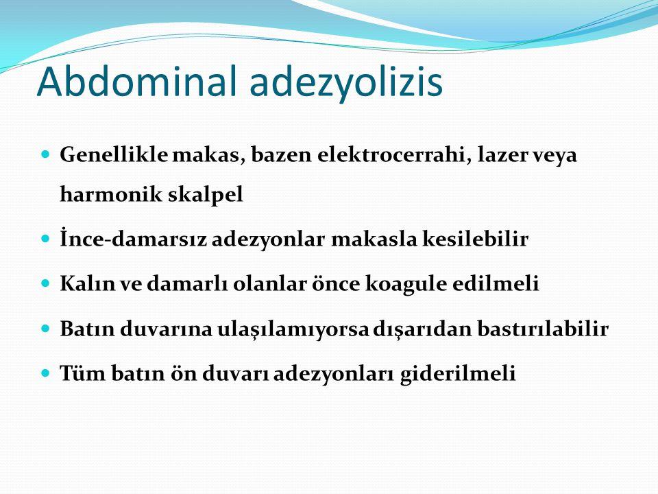 Abdominal adezyolizis