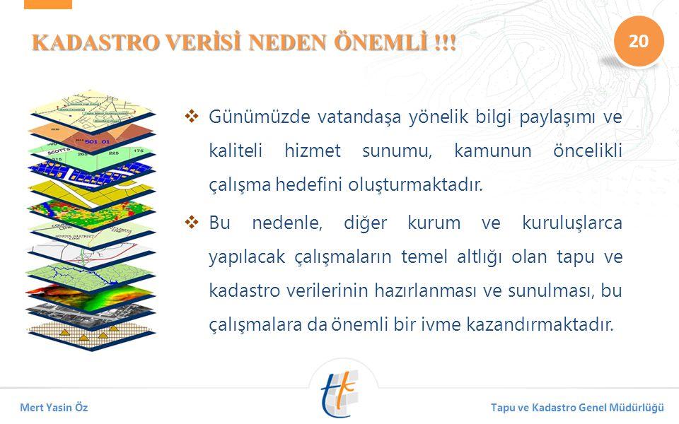 KADASTRO VERİSİ NEDEN ÖNEMLİ !!!