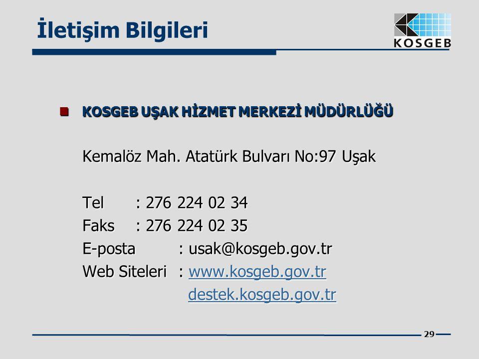 İletişim Bilgileri Kemalöz Mah. Atatürk Bulvarı No:97 Uşak