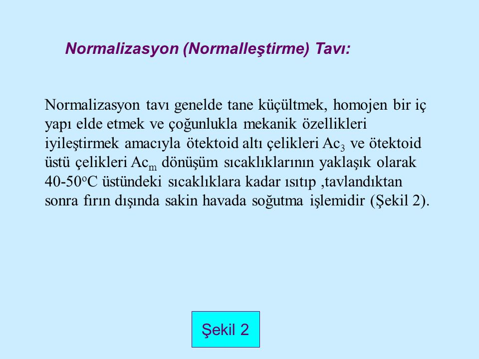 Normalizasyon (Normalleştirme) Tavı: