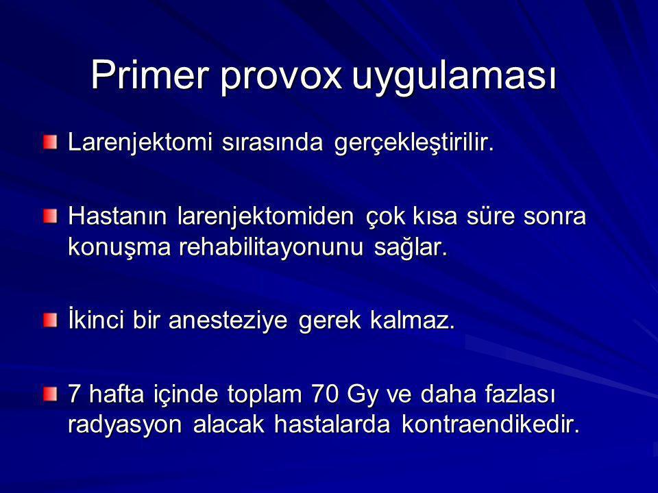 Primer provox uygulaması