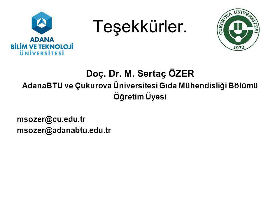 AdanaBTU ve Çukurova Üniversitesi Gıda Mühendisliği Bölümü