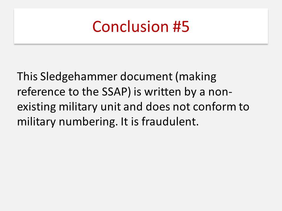 Conclusion #5
