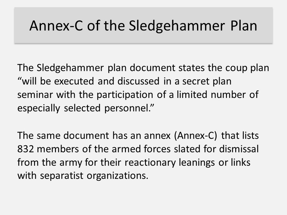 Annex-C of the Sledgehammer Plan