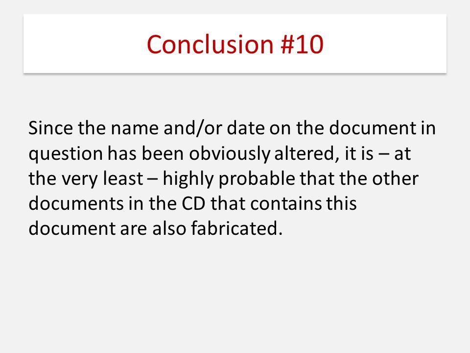 Conclusion #10