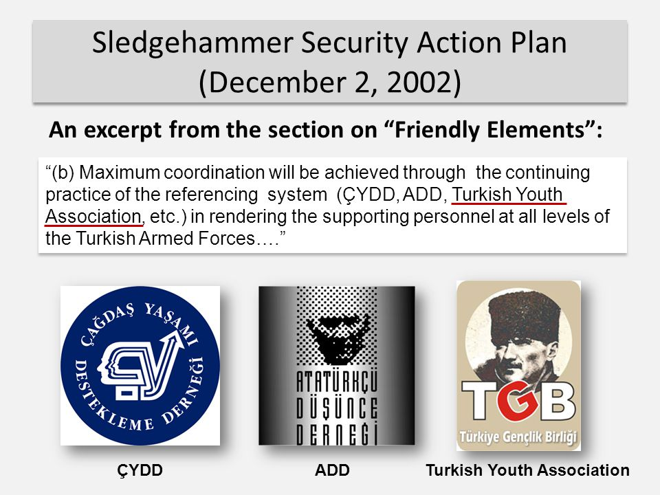 Sledgehammer Security Action Plan (December 2, 2002)