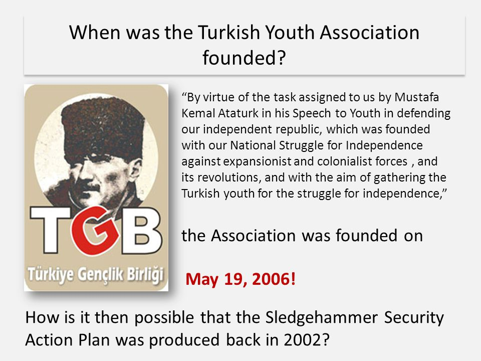 When was the Turkish Youth Association founded