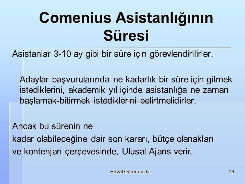 Comenius Asistanlığının Süresi