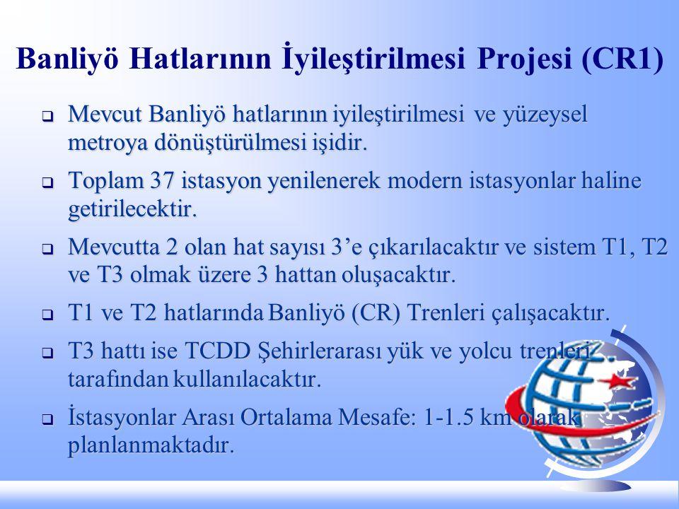 Banliyö Hatlarının İyileştirilmesi Projesi (CR1)