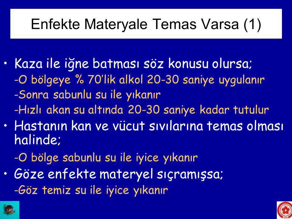 Enfekte Materyale Temas Varsa (1)
