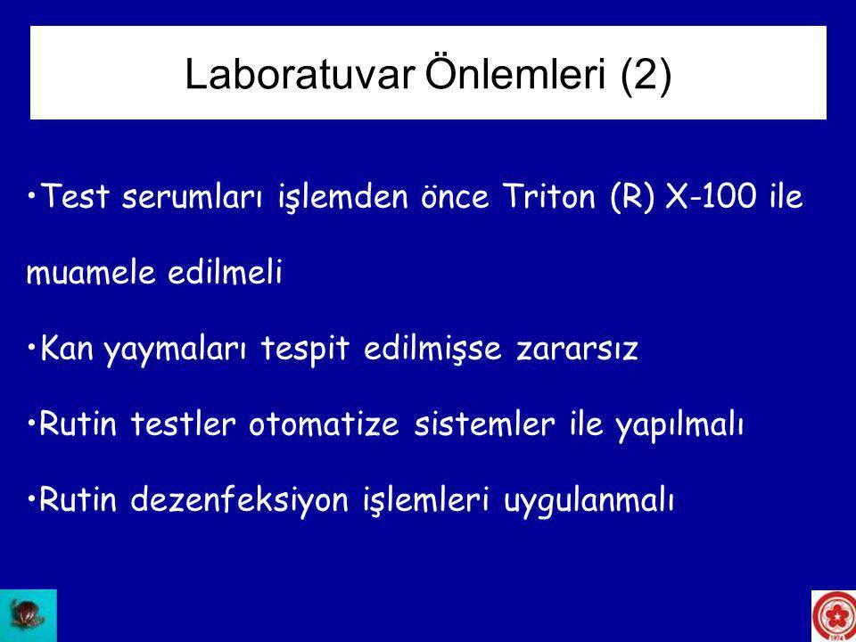 Laboratuvar Önlemleri (2)
