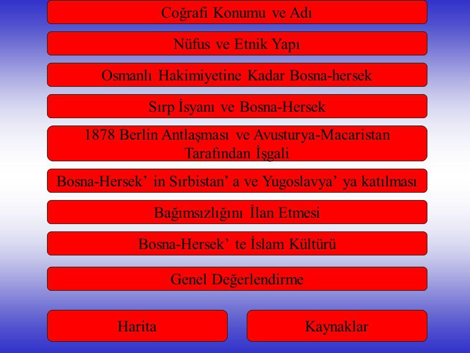 Osmanlı Hakimiyetine Kadar Bosna-hersek